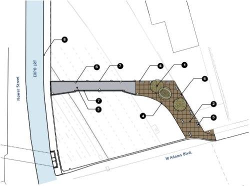 Trabjos de construcción en el bulevar Adams como parte del proyecto ExpressLanes.