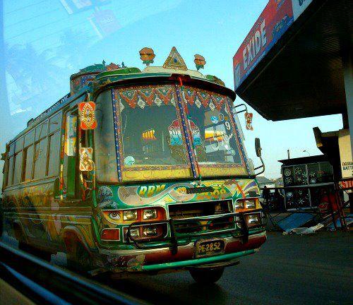 Este autobús, hecho en el 2008, ha visto pocos viajes (Foto Abbie Fentress Swanson)