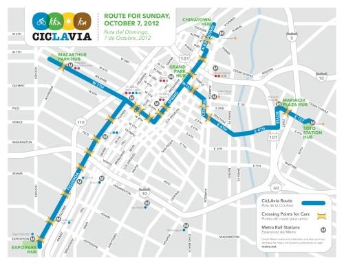 Mapa con las nuevas rutas.