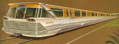 Ilustración de un tren subterráneo hacia Westwood.
