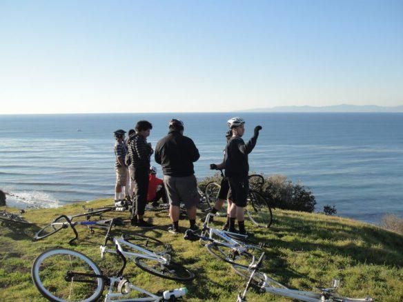 Disfrutando la vista del océano desde Palos Verdes