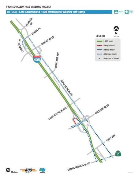 Cierre rampa autopista 405