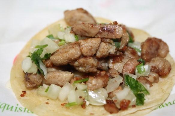 Taco de molleja. (Foto de Agustín Durán/El Pasajero).