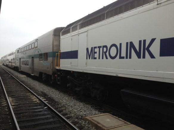 Tren de Metrolink de la Línea del Valle del Antílope, en Union Station.