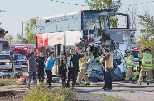Escena del accidente. Foto: Ottawa Citizen.