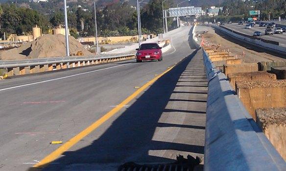 La reconfiguración de la nueva rampa es más segura para los conductores.