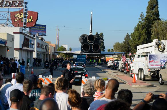 Vista de Crenshaw Boulevard desde la calle 54. Foto: Steve Hymon.