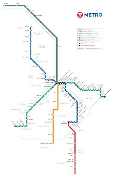 Mapa oficial de la red de trenes. Incluye líneas bajo construcción.