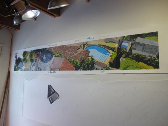 Dibujos a mano en el estudio de la artista. Foto: Metro.
