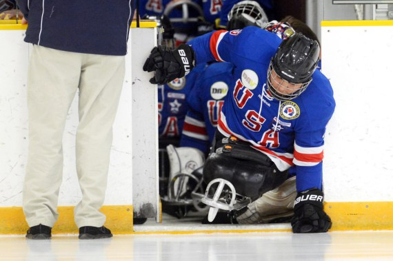 Sled hockey Warriors battle Rampage