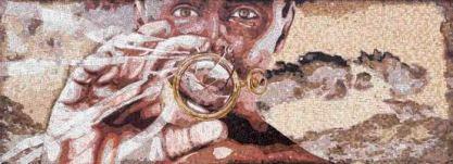 Obra de Willie Middlebrook en la estación Expo/Crenshaw.