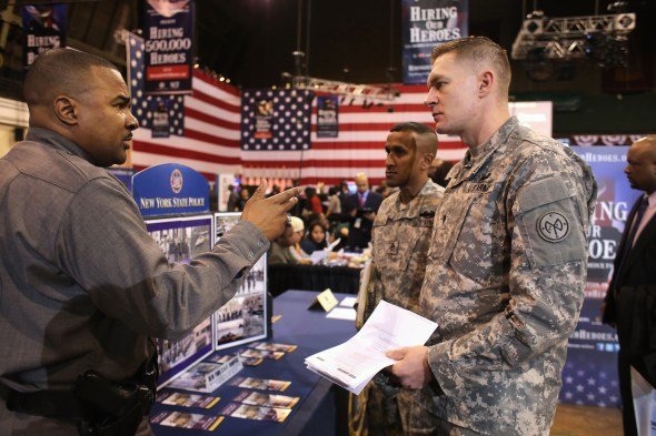 Job Fair For Veterans And Military Spouses Held In New York City
