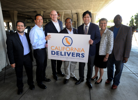 LOS ANGELES - AUGUST 29: Metro presser event on August 29, 2015 at Willowbrook/Rosa Parks Blue Line Station in Compton, California.