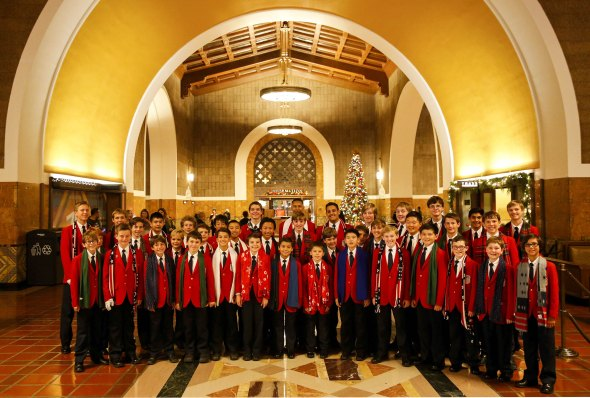 The All-American Boys Chorus performs a holiday concert at Union Station on Friday, December 5, 2014 in Los Angeles, Calif. © 2014 Patrick T. Fallon - All Rights Reserved, No Use Without Permission