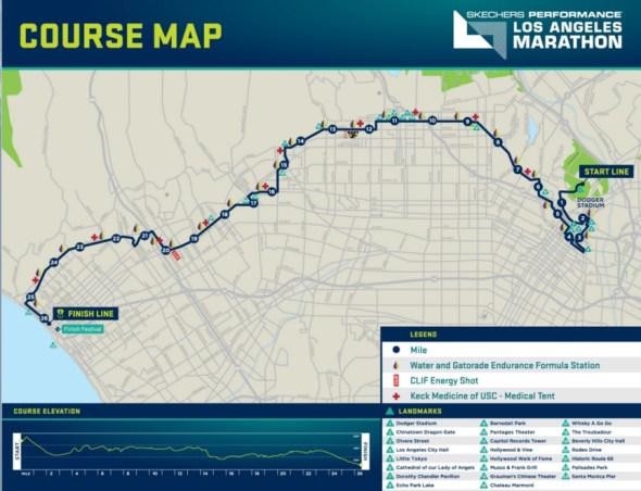 mapa maratón