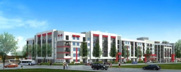 Ilustración del edificio multifamiliar.