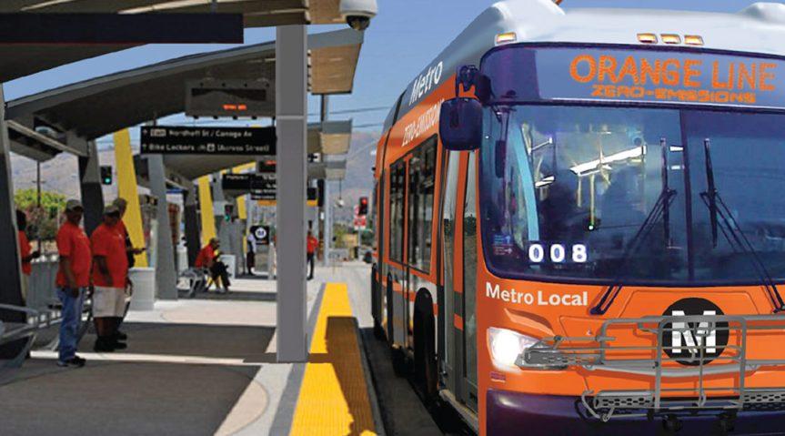 Autobús rápido de la Línea Naranja. Foto: Metro.