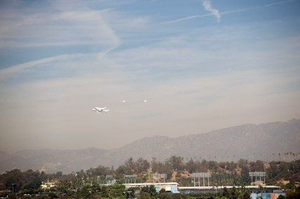 Over Dodger Stadium by Peter Watkinson