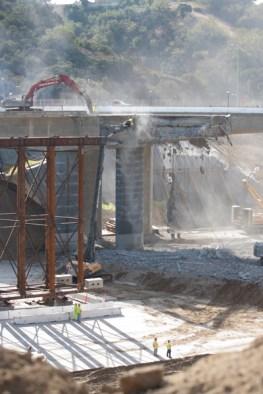 I-405 Closure Construction Photos