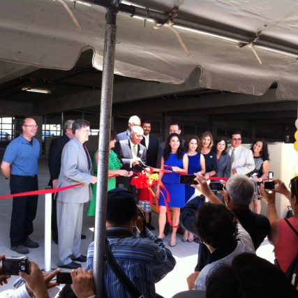 Cutting the ribbon! Photo: Michael Richmai/Metro