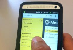 Mobile Phone - News Menu Display