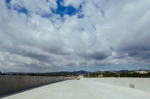 A look down the ramp toward the actual entrance to the NB 405. Photo by Steve Hymon/Metro.