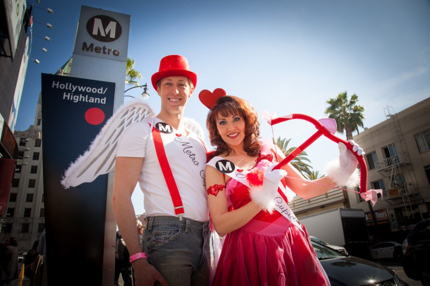 Cupids at Hollywood/Highland! Photo: Mark Clifford