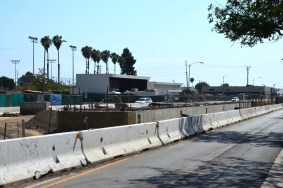 The platform for the 17th Street station in Santa Monica that will be in the middle of Colorado Avenue.