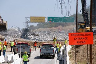 Rubble from demolition of the Mulholland Drive Bridge in 2012. Photo by Gary Leonard for Metro.