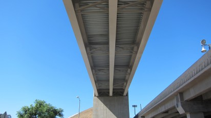 Underneath the flyover ramp. Photo by Dave Sotero/Metro.