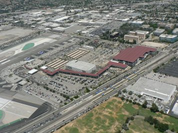An aerial shot of the new Regional Intermodal Transportation Center at Bob Hope Airport. Photo: Dan Lichtner