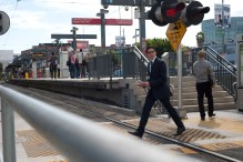 Jimmy Kimmel wasn't alone -- others attending the Emmy Awards at the Nokia Theater took Metro Rail to the event in late August.