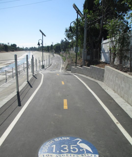 A new section of the L.A. River Bikeway opens between Winnetka and Vanowen in the San Fernando Valley opened in August. Metro contributed $5 million to the project. Photo: city of Los Angeles.