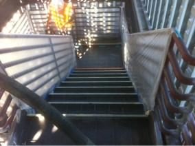 unfinished stairway