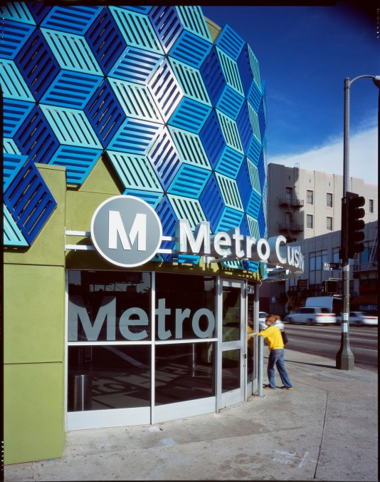 Metro's Customer Service Center at Wilshire / La Brea was demolished in the summer of 2015 to make way for the Purple Line Extension.