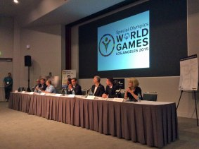 Speaker panel included officials from Special Olympics, former L.A. City Mahyor Antonio Villaraigosa, Metro and L.A. Tourism Board