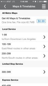 A new option to download the entire catalog of Metro maps and timetables for 99 cents. Individual downloads are still free.