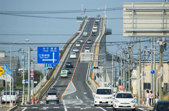 The Eshima-Ohashi Bridge in Japan. Source: Wikimedia.