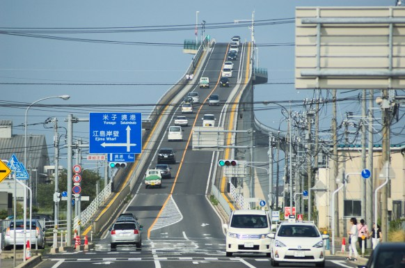 The Eshima-Ohashi Bridge in Japan. Source: Wikimedia.