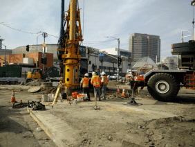 Pile installation at 1st/Alameda.