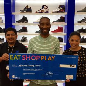 Sheikh Shoes (left), Winner - Anthony W. (center), BHC Mall (right)
