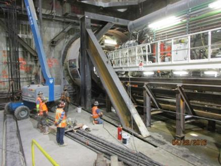 Harriet as seen on her second day of tunneling. Photo: Metro