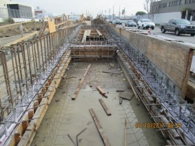 Another view of work near Westchester Station.