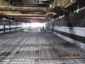 Installation of flooring rebar for underground segment near 60th Street.