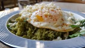Green piri piri rice.
