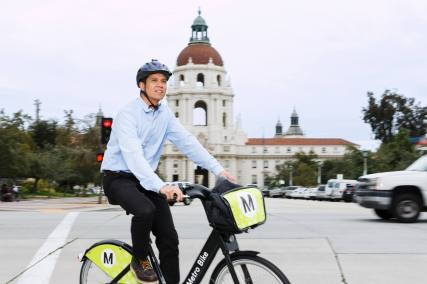Bike share in Pasadena.