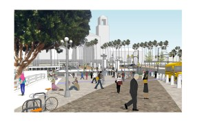 Rendering of future view from same location.