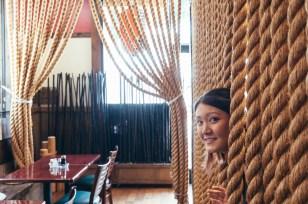 Exploring the unique decorations at Ebisu Restaurant.