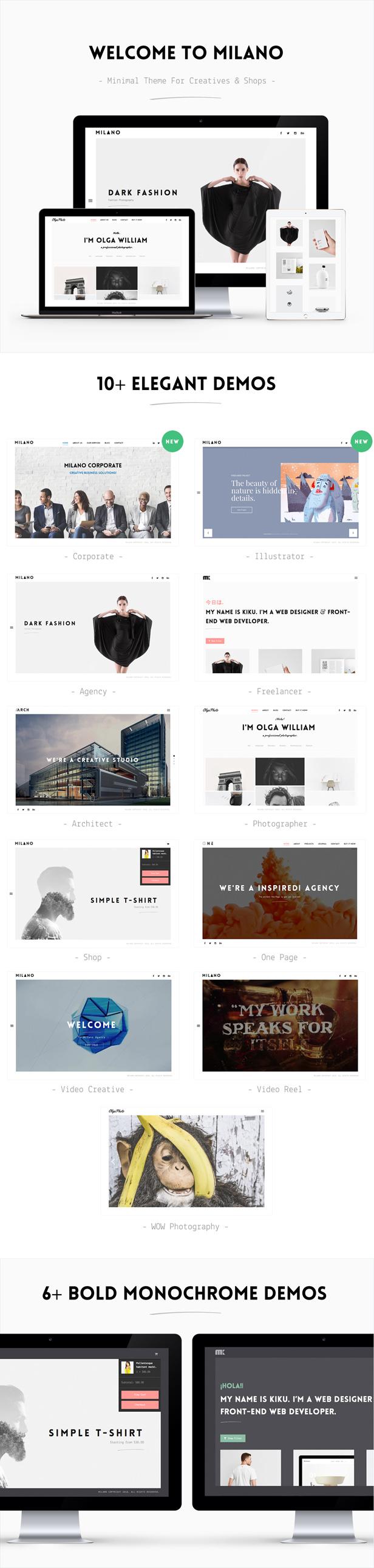 minimal wordpress portfolio theme