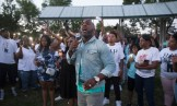 Pastor Danny Givens speaks to the crowd.